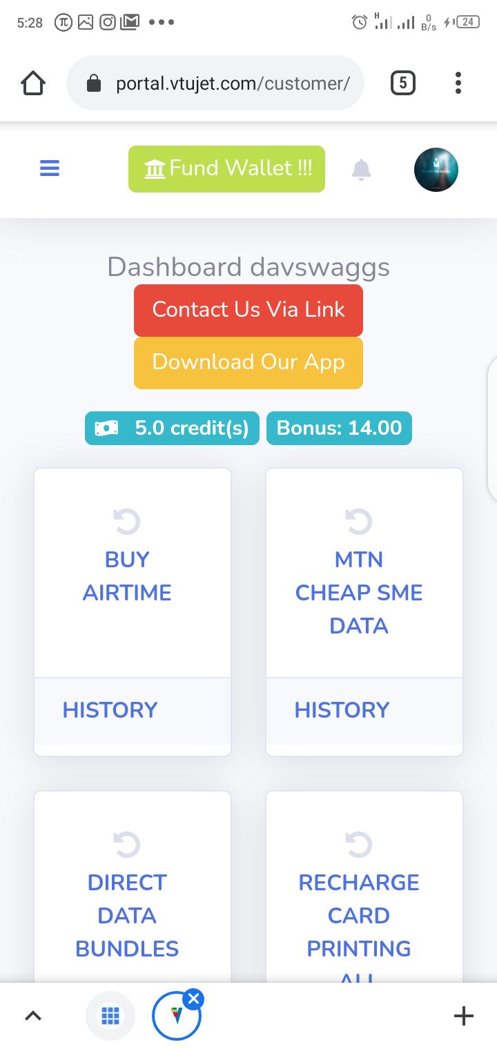 VTUJet Login Dashboard