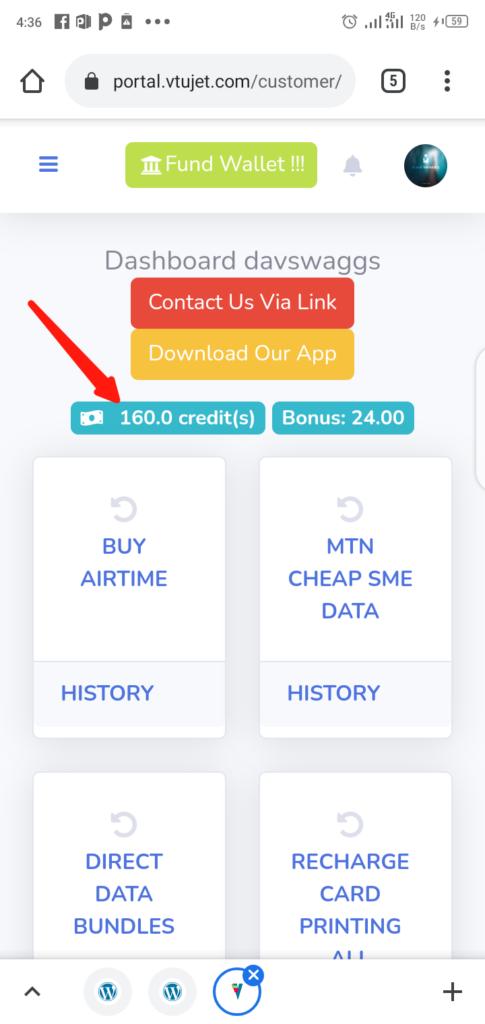 VTUJet Wallet Balance