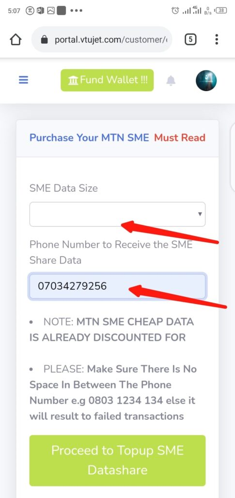 Buy Cheap MTN SME Data Step 2