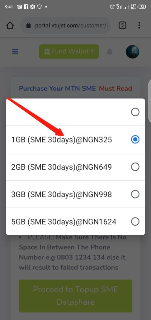 Buy Cheap MTN SME Data Step 3
