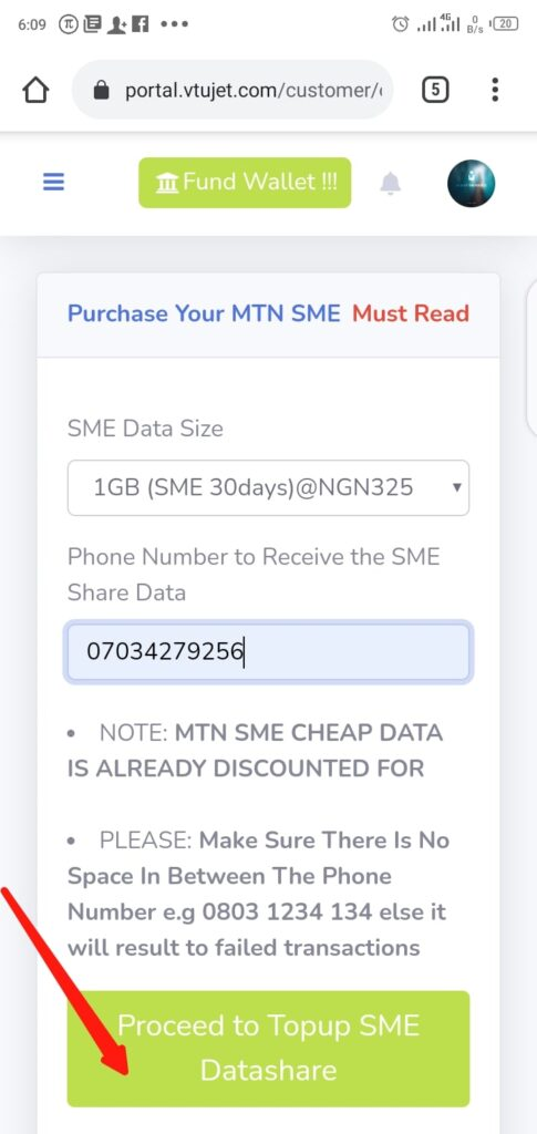 Buy Cheap MTN SME Data Step 4